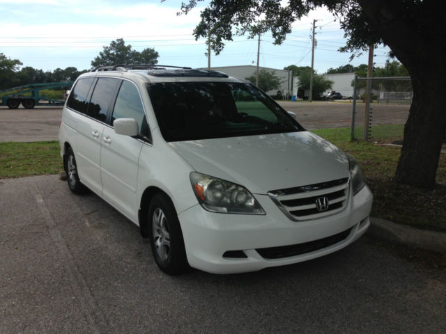 2006 Honda Odyssey Ex L White Dvd Leather Reliable Family