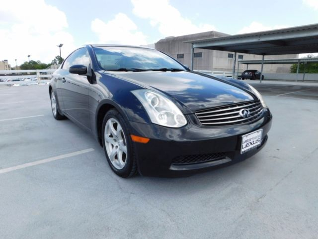 2006 infiniti g35 coupe with 39 531 miles miles black