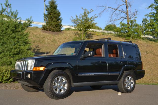 2006 jeep commander limited hemi black w saddle brown leather interior. Black Bedroom Furniture Sets. Home Design Ideas
