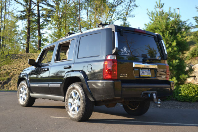 2006 Jeep Commander Limited Hemi Black W Saddle Brown Leather Interior