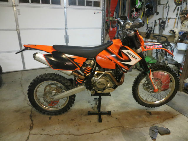2006 ktm 400 exc street legal clear indiana title
