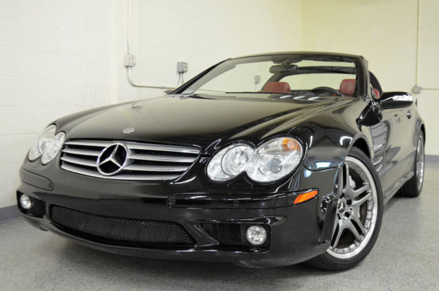2006 mercedes benz sl65 amg obsidian black with berry red. Black Bedroom Furniture Sets. Home Design Ideas