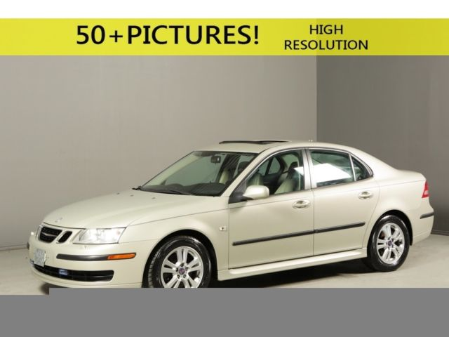 2006 Saab 9-3 2 0t SUNROOF LEATHER HEATSEATS XENONS WOOD AUTO TAN