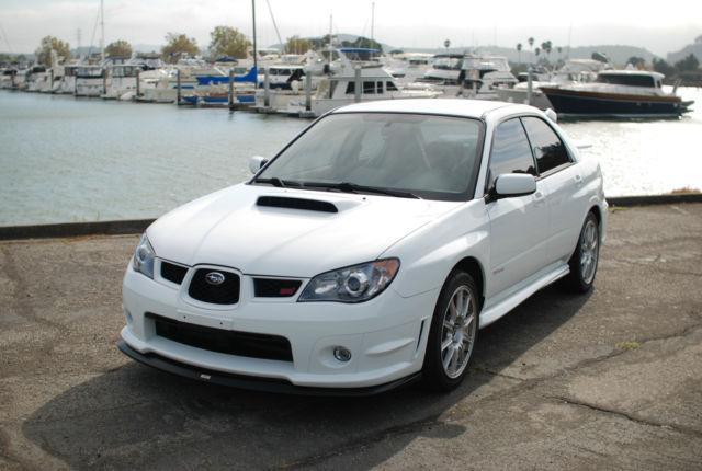 2006 Subaru Impreza Wrx Sti Aspen White W Black S204 Interior