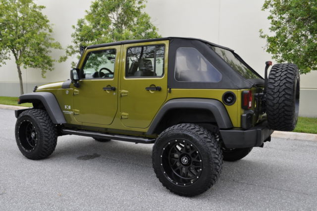 2009 Jeep Wrangler Unlimited Sport >> 2007 2008 2009 2010 Jeep Wrangler Unlimited X 4X4 Lifted Rescue Green