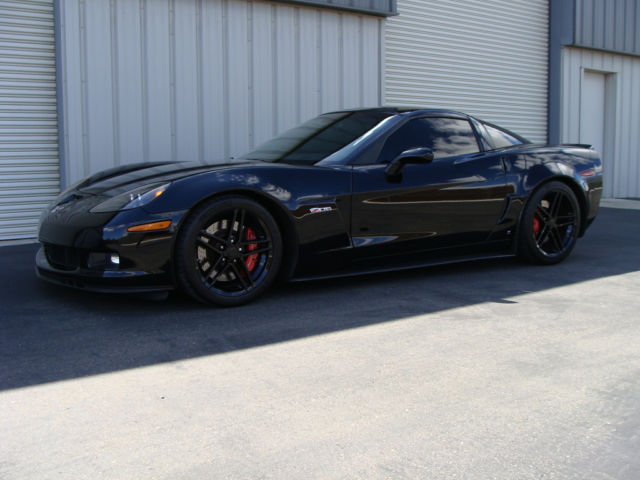 2007 BLACK CORVETTE Z06 - 650HP!, LIKE NEW IN AND OUT, 2LZ, HEADS