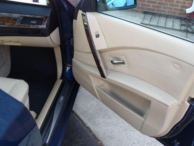 2007 BMW 525i Mystic Blue E60 Sedan 4-Door 3.0L Manual ...