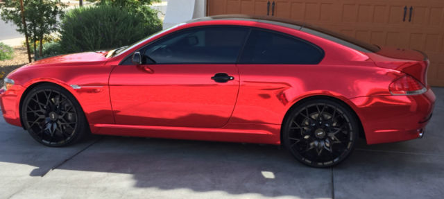 2007 BMW 650I 2dr Coupe Red Chrome and Black