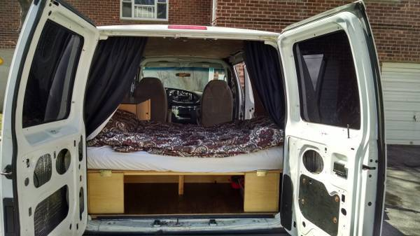 2007 Ford E 150 Cargo Van Conversion Sleeper Camper