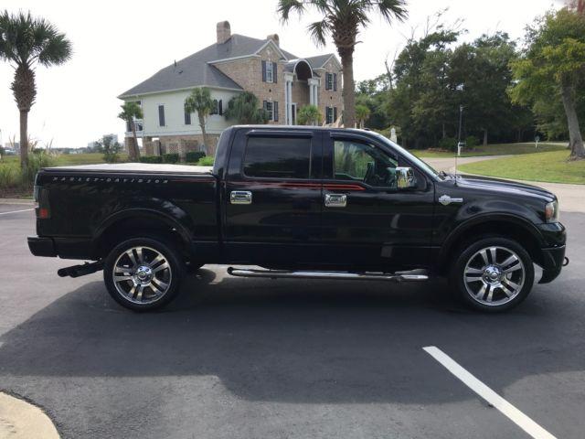 2007 ford f150 harley davidson crew cab truck 4wd 72k new tires brakes loaded. Black Bedroom Furniture Sets. Home Design Ideas