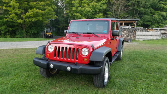 2007 jeep wrangler x unlimited automatic 4 door 3 8l red 4x4. Black Bedroom Furniture Sets. Home Design Ideas