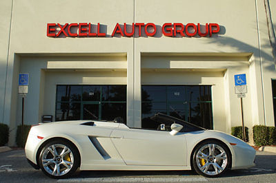 2007 Lamborghini Gallardo Spyder Pearl White Under 3k Miles