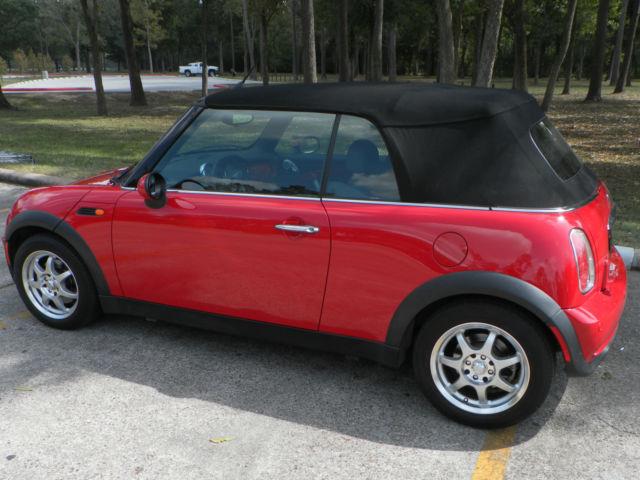 2007 mini cooper base convertible 2 door 1 6l 5 speed manual red. Black Bedroom Furniture Sets. Home Design Ideas