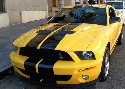 2007 Mustang Shelby Gt500 Screaming Yellow With Black