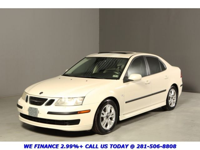 2007 Saab 9-3 2 0T SUNROOF LEATHER XENONS TURBO WHITE 6SPEED WOD 6