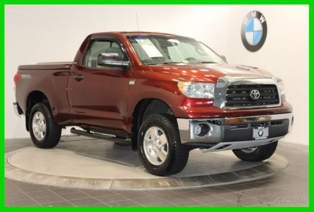 2007 Toyota Tundra Red Pickup Truck Sr5 Trd Off Road Package Leer Bed Cover 4x4