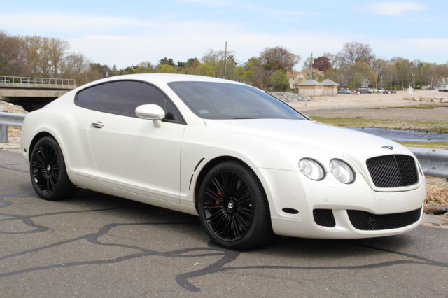 2008 bentley continental gt speed white matte wrap red interior gorgeous car