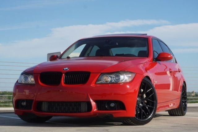 2008 BMW 3 Series 335i Twin Turbo Sedan 103450 Miles Red 30L 3000hp A