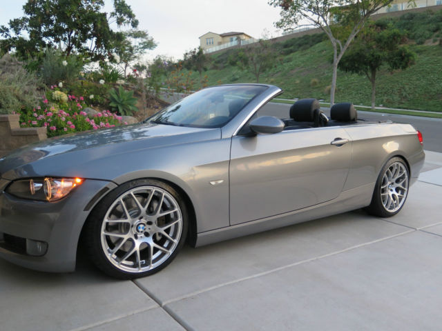 2008 BMW 335i HardTop Convertible  Silver  Black  Custom Rims