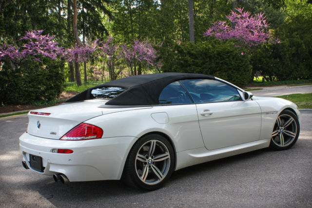 2008 bmw m6 convertible 500hp v10 white fast hud smg keyless michelin low miles. Black Bedroom Furniture Sets. Home Design Ideas