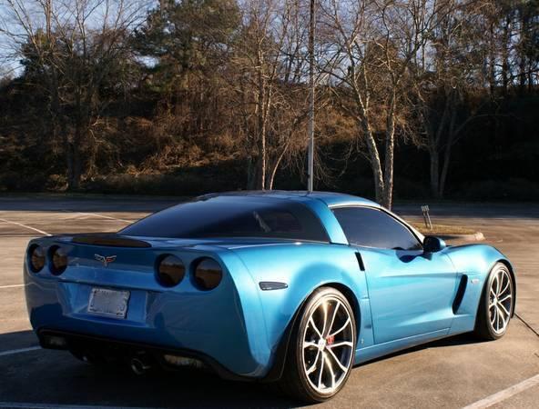 2008 Chevrolet Corvette Z06 Coupe 2 Door 70l Erl Jetstream Blue