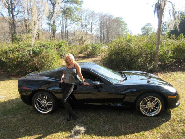 2008 Chevrolet Corvette Black New Chrome Rims 6 2l Targa