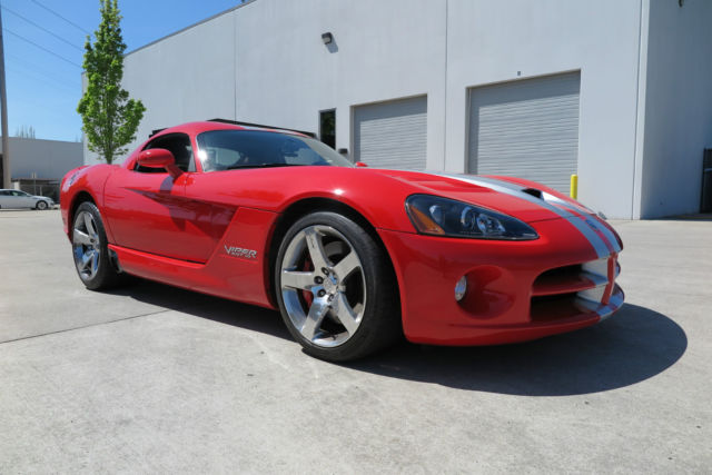 2008 Dodge Viper Srt10 Coupe Only 14 134 Miles Red 600 Horse Engine