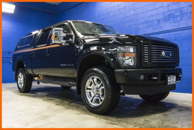 2008 ford f 350 harley davidson 4x4 turbo 6 4l diesel crew cab and canopy. Black Bedroom Furniture Sets. Home Design Ideas