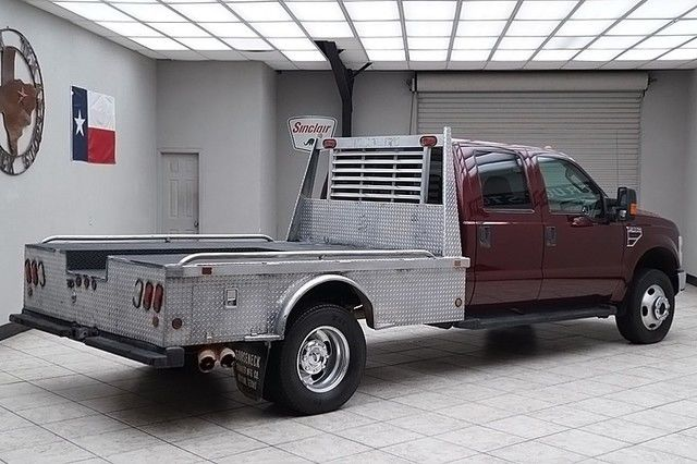 2008 ford f350 diesel 4x4 dually lariat flat bed hauler leather crew cab texas. Black Bedroom Furniture Sets. Home Design Ideas