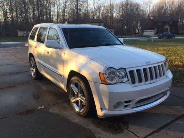 2008 grand cherokee jeep srt8 srt 8 rare pearl white. Black Bedroom Furniture Sets. Home Design Ideas