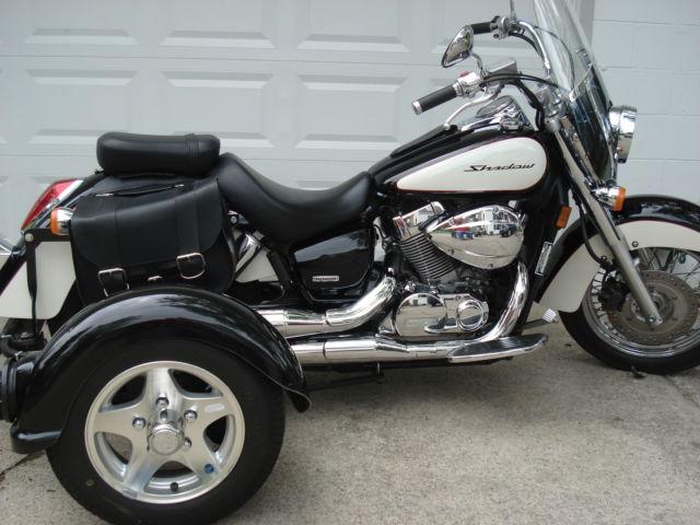 2008 Honda Shadow Vt750ca Motorcycle Tag Along Trailer