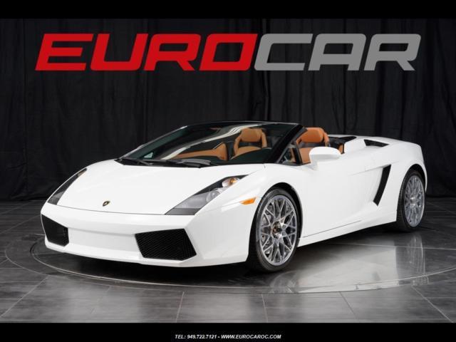 2008 Lamborghini Gallardo Spyder Stunning White One Of Akind