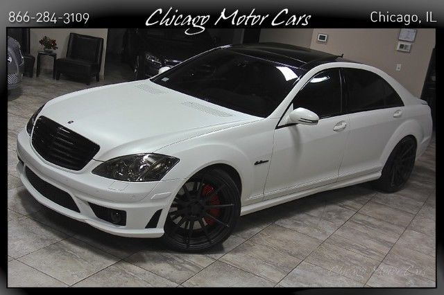 2008 mercedes benz s63 amg p3 pano matte white carbon for Mercedes benz s63 amg 2008