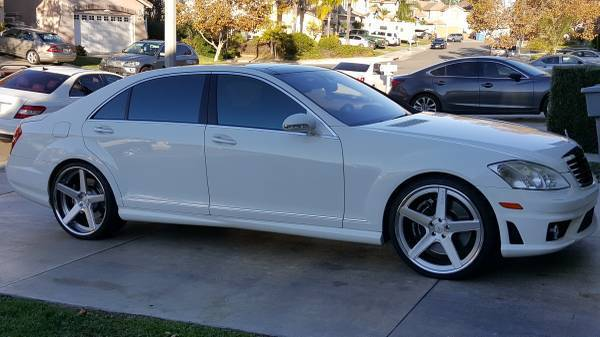2008 mercedes benz s63 white w black interior low miles condition 10 10. Black Bedroom Furniture Sets. Home Design Ideas