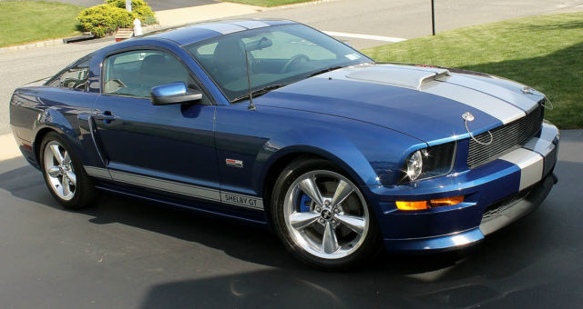 2008 shelby gt coupe blue with painted silver stripes csm rare automatic. Black Bedroom Furniture Sets. Home Design Ideas