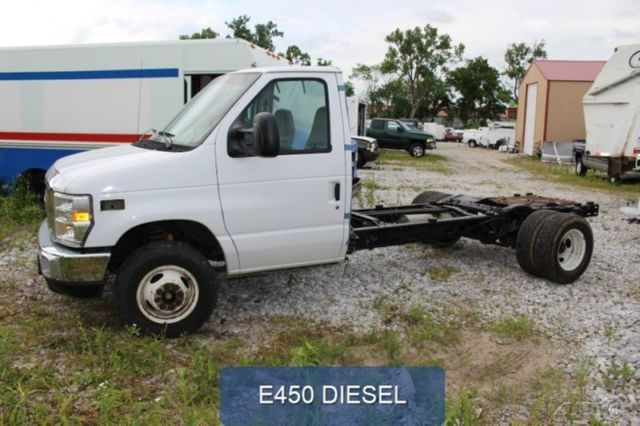 2008 Used E450 Chassis Flatbed Box Delivery Dually Diesel