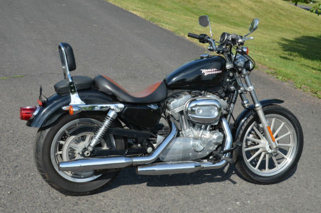 2008 Vivid Black Fuel Injected Harley Davidson Sportster 883 Low