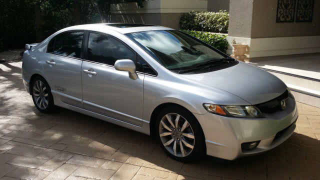 Good 2009 2010 2008 Honda Civic SI Sedan Silver Black 6 Speed Vtec SUPERCHARGED!