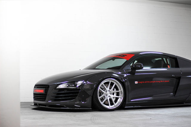 2009 audi r8 v8 liberty walk. Black Bedroom Furniture Sets. Home Design Ideas