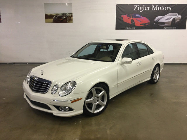 2009 Mercedes E350 Sport White One Owner Clean Carfax Amg Wheels