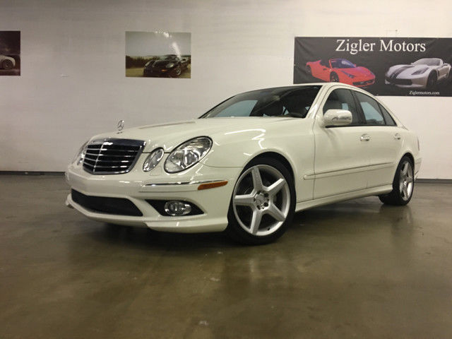 2009 mercedes e350 sport white one owner clean carfax amg. Black Bedroom Furniture Sets. Home Design Ideas