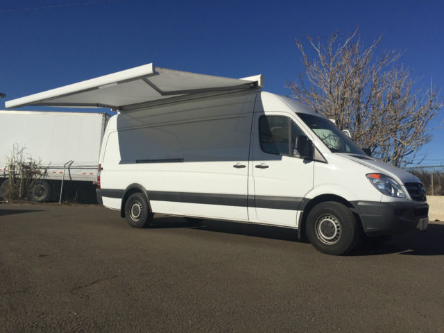"2012 2500 Sprinter Van 170"" High top Marketing Van with awning"