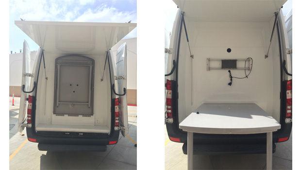 """2012 2500 Sprinter Van 170"""" High top Marketing Van with awning"""