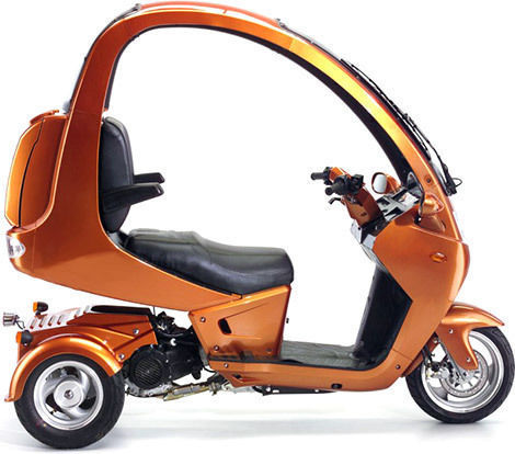 2012 automoto 3 wheel semi enclosed gas 150cc scooter trike 3 wheeler motorcycle. Black Bedroom Furniture Sets. Home Design Ideas