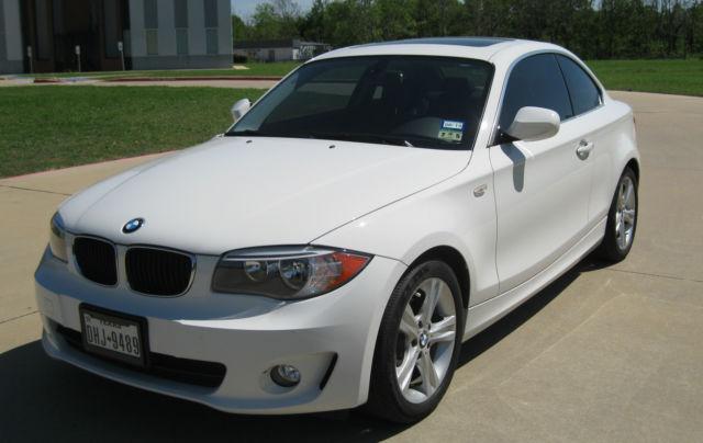 2012 BMW 128i White Coupe Low Miles