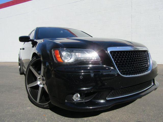 2012 Chrysler 300 Srt8 Black Red Loaded 22 Inch Vossen Wheels Must See