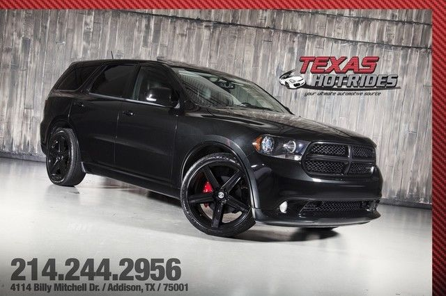 2012 Dodge Durango R T 5 7l Hemi V8 All Black Srt8 Wheels