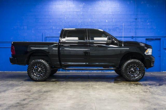 2012 dodge ram 1500 sport 5 7l v8 hemi quad cab lifted leather pickup truck. Black Bedroom Furniture Sets. Home Design Ideas