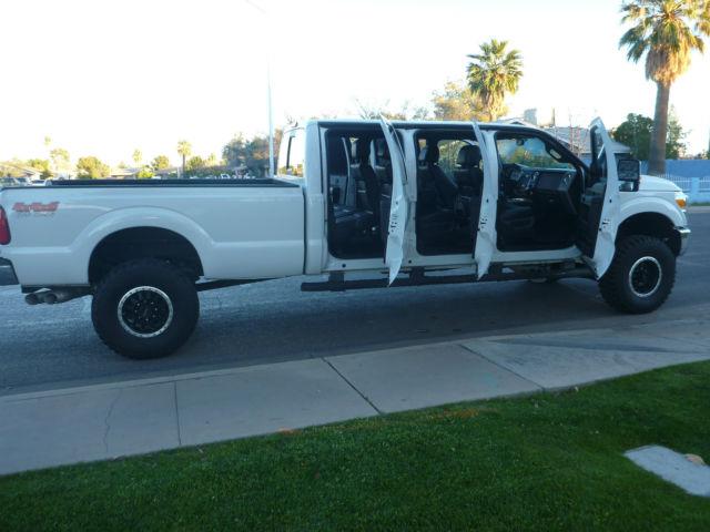 2012 Ford F350 Custom 6 door truck 4x4 diesel 12 six dr ...