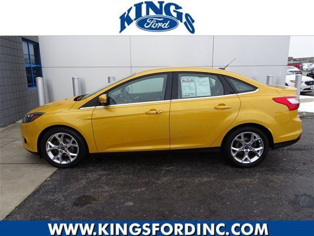 2012 Ford Focus Titanium 40890 Miles Yellow Blaze Metallic Tri Coat